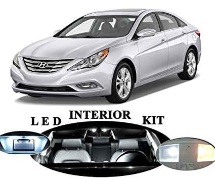 LED lights for Hyundai Sonata Xenon White LED Interior Package Upgrade (6 pieces)