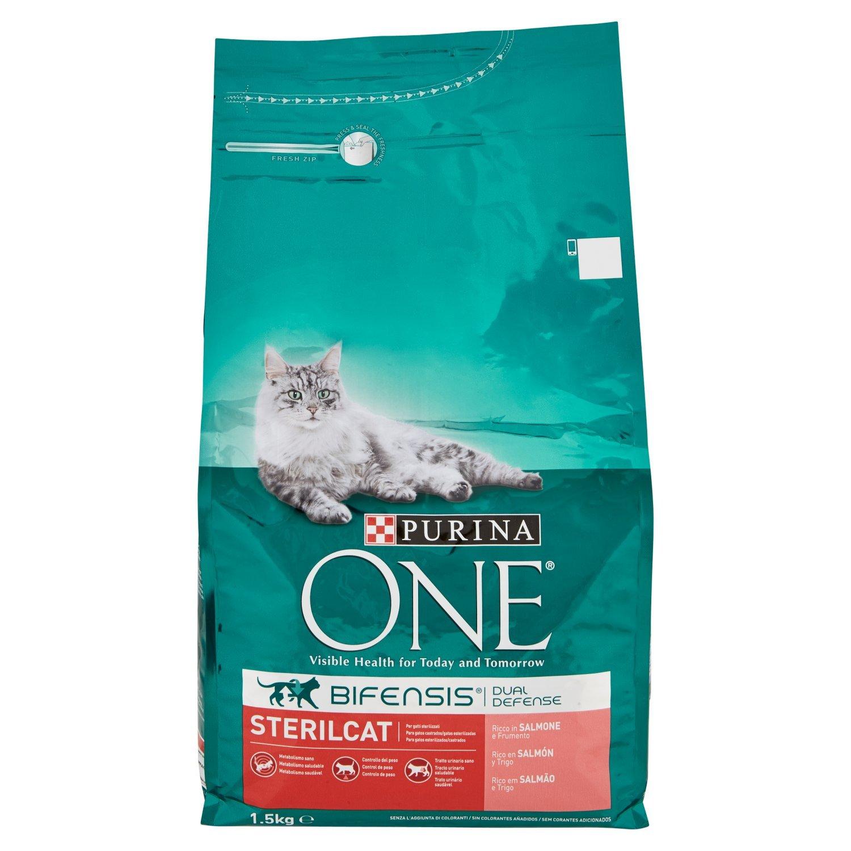 Purina One Bifensis Esterilizados rico en Salmón y Trigo 1,5kg: Amazon.es: Amazon Pantry