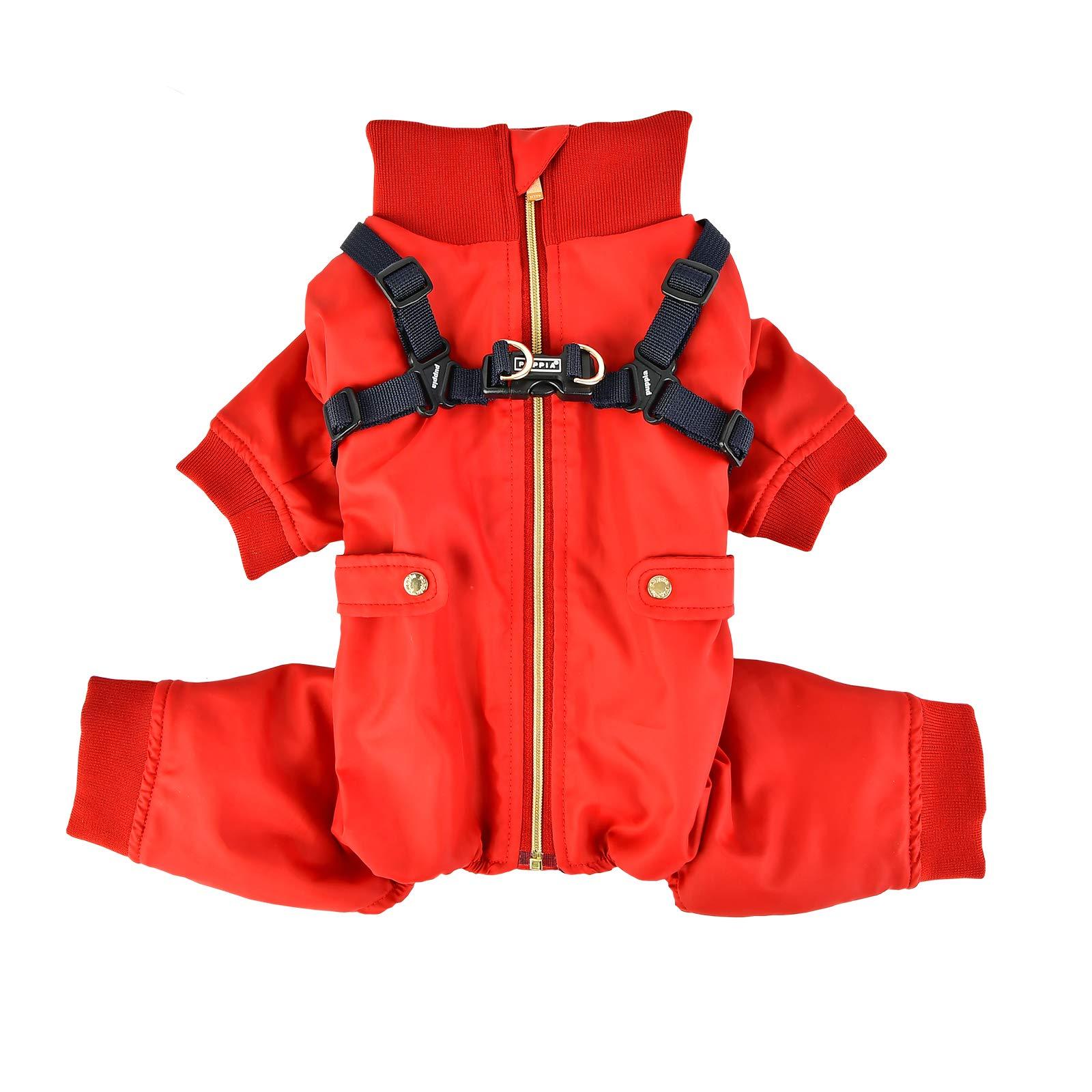 Puppia PLSD-JP1663-RD-S Garnet Pet Coat, Red, Small