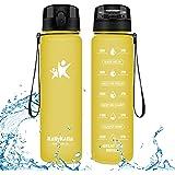 KollyKolla Botella Agua Sin BPA Deportes - 350ml/500ml/800ml/1L/1.5L, Reutilizables Ecológica Tritan, Bebidas Botellas…