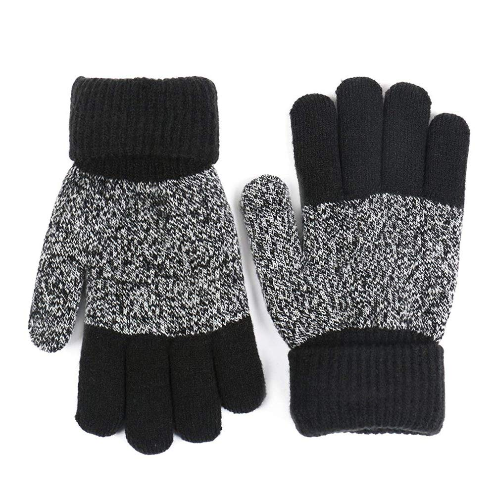 Fliyeong Gloves Knitted Gloves Winter Gloves Full Finger Gloves Warm Gloves Suitable for Kids Lightweight And Thick