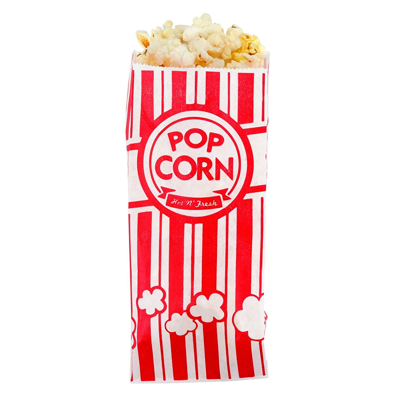 Popcorn Bags - 1oz Classic Red & White Stripes (200)