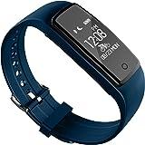 Nioly スマートブレスレット IOS7.0以上対応 スマートウォッチ 心拍計 歩数計 着信表示 スマートリストバンド Bluetooth4.0 消費カロリー 活動量計 IP67防水防塵 有機ELディスプレイ(OLED) 青