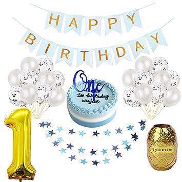 Amazon.com: QTW1st - Kit de decoración de cumpleaños para ...