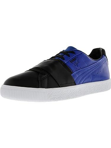 fb4d728fa58 PUMA Men s Clyde Colorblock 1 Black Lapis Blue Ankle-High Fashion Sneaker -  8M