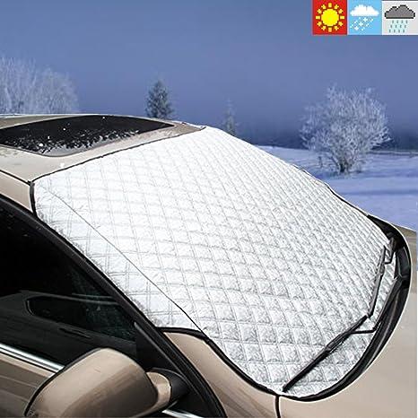 Coche Parabrisas Nieve Protector de parabrisas anti escarcha y polvo sol Shade UV Pantalla escudos Auto ...