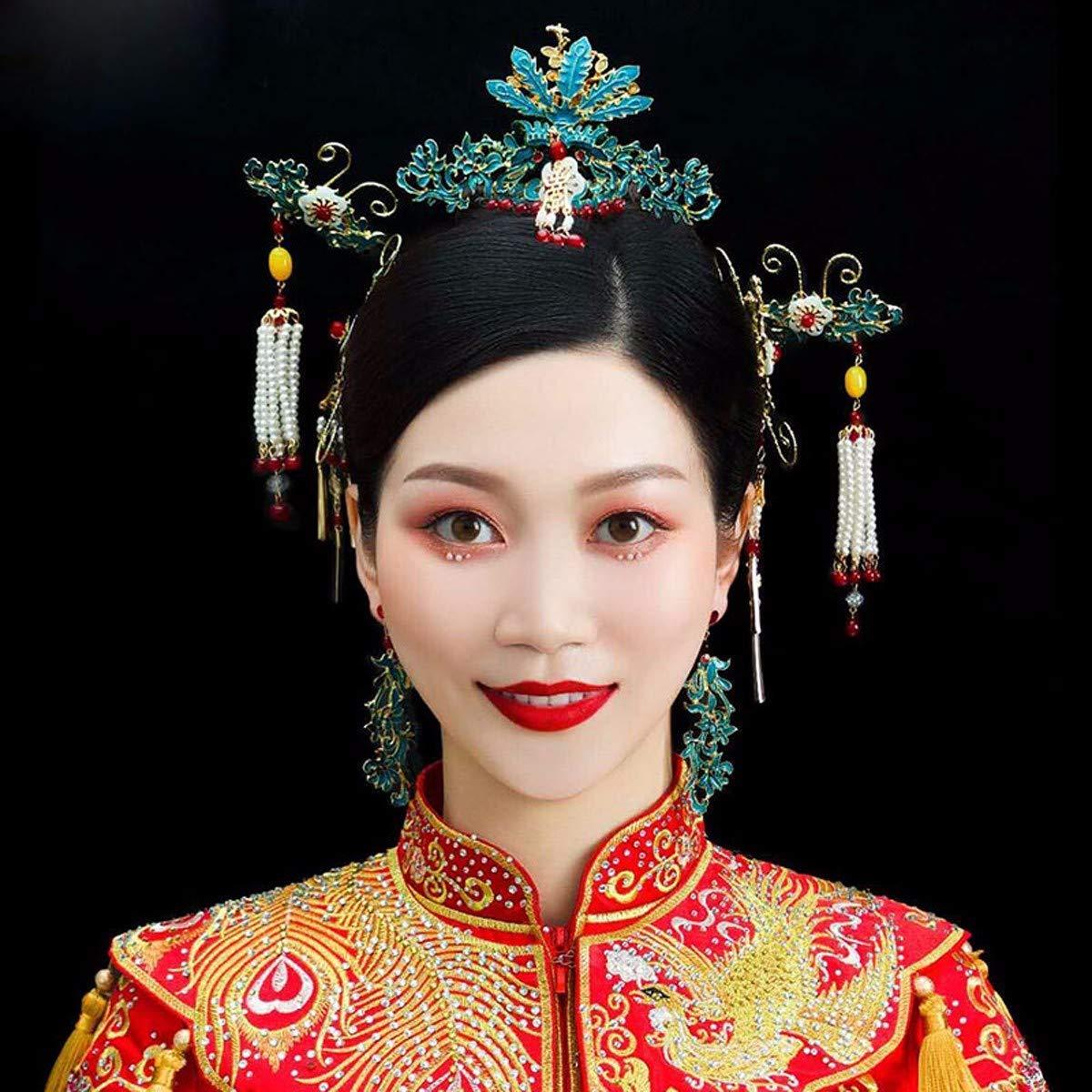 Girls Crown, Beautiful headdress/Wedding Dress Headgear Chinese Ancient Costume Wedding Accessories Wedding Toast Phoenix Crown Ornaments. by Zehaer (Image #5)