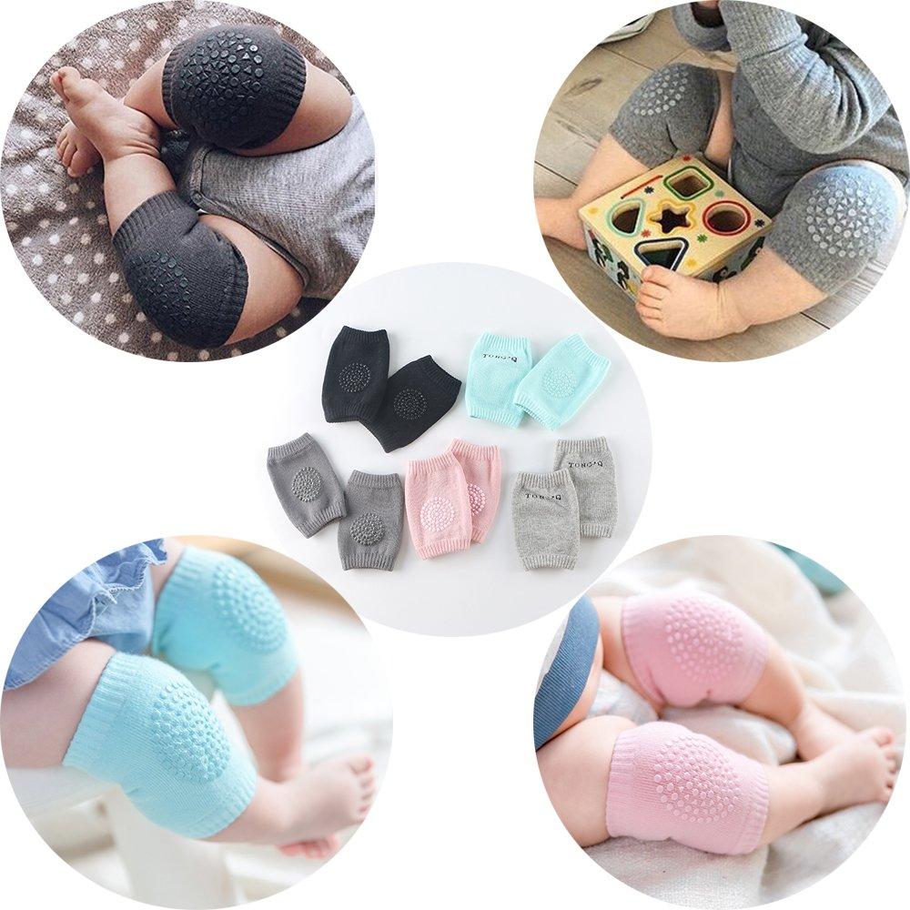 Baby Knee Pad Infant Crawling Anti-Slip Knee Unisex Baby Toddlers Kneepads 5 Pairs