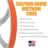 "1 1/2"" x 18 inch x .090 inch Urethane Band Saw Tire 2 Pack for Delta: 28-682, 28-662 Grizzly: G1012 Grob : 4V-18 Jet: JWBS-18X, JWBS-18QT, JWBS-18QT-3 Powermatic: PM1800 Rikon: 10-345"