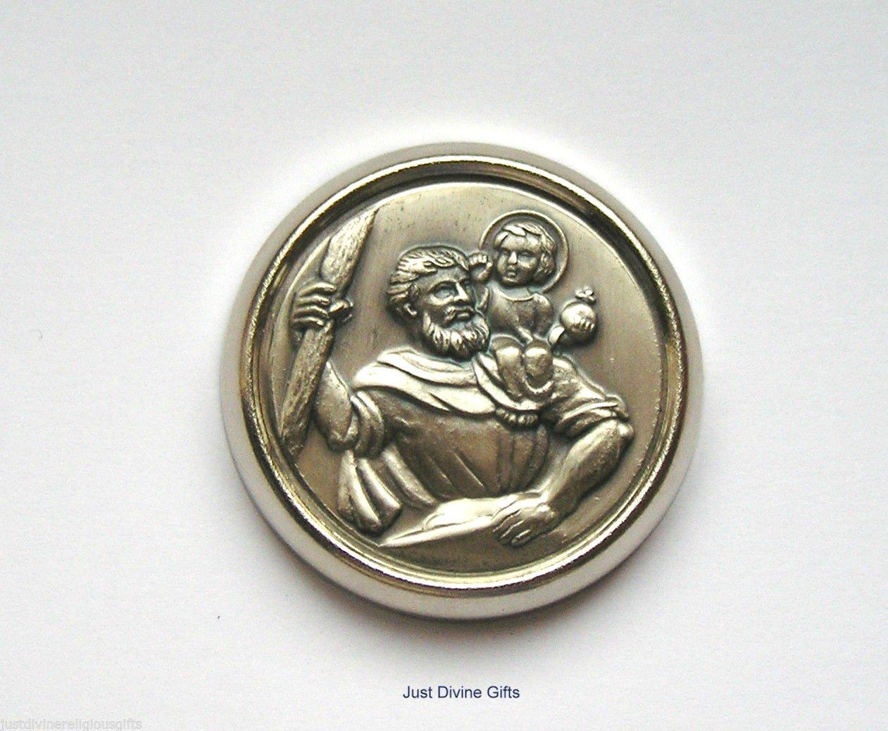 San Crist/óbal magn/ético de coche placa ~ medalla