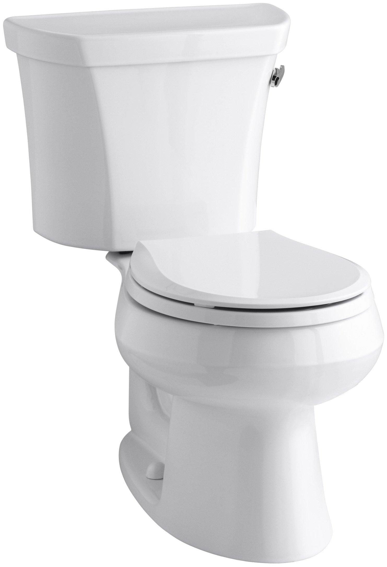 Kohler K-3997-RA-0 Wellworth Round-Front 1.28 gpf Toilet, Right-Hand Trip Lever, White by Kohler