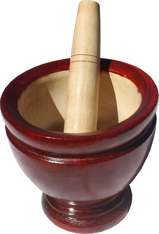 5 inch diameter Full Funk Mangowood Mortar /& Pestle for Home Spice Grounder Grinder