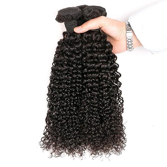 077130124d0c SingleBest 10 inch Tissage Brésilien Bouclé Vierge Cheveux Extension  Couleur Naturelle curly hair  Amazon.fr  Beauté et Parfum