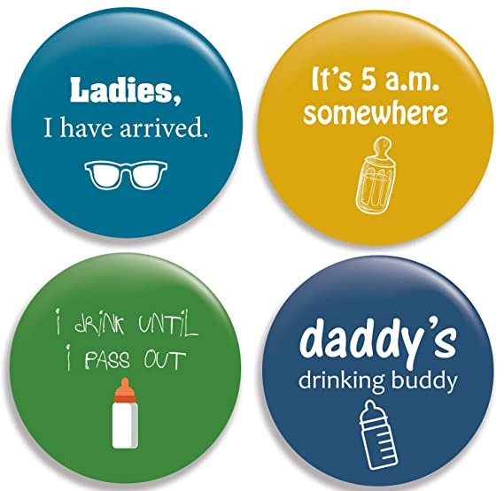 Amazon com: Funny Drinking Baby Pinback Buttons/Pins (2 25