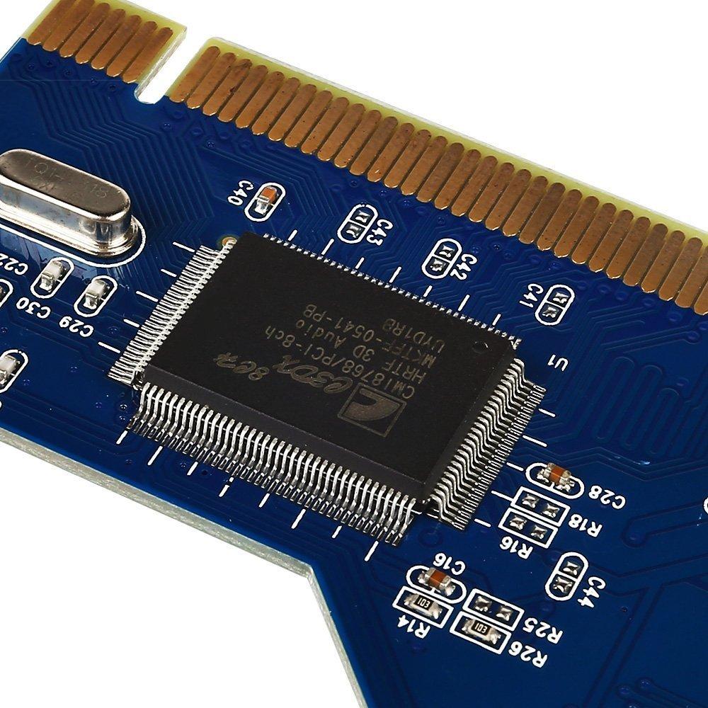 Amazon.com: Tarjeta de sonido 7.1 PCI Express PCI-E 8 ...