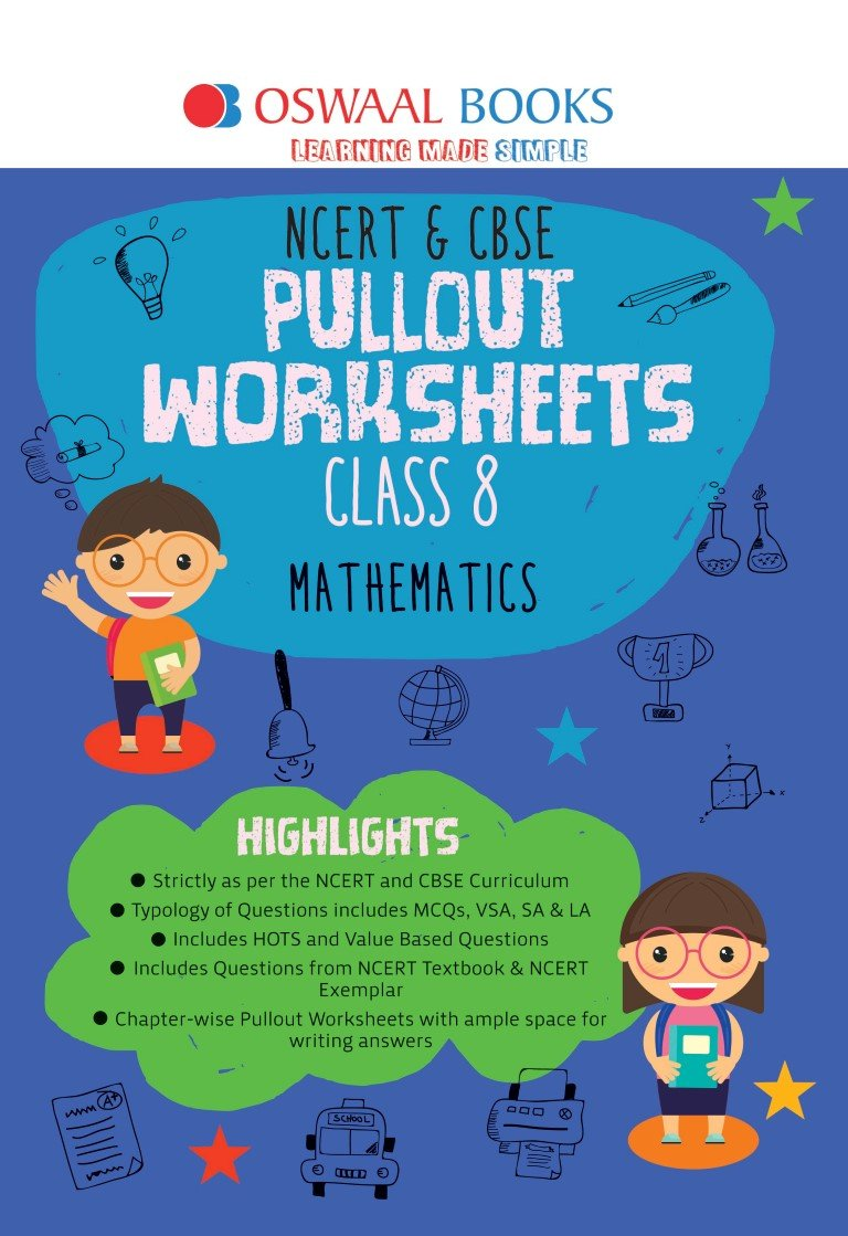 Oswaal NCERT and CBSE Pullout Worksheets Class 8 Maths For March ...