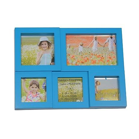 Fotolijst 10 Fotos.Amazon Com 11 5 Blue Multi Sized Puzzled Photo Picture Frame