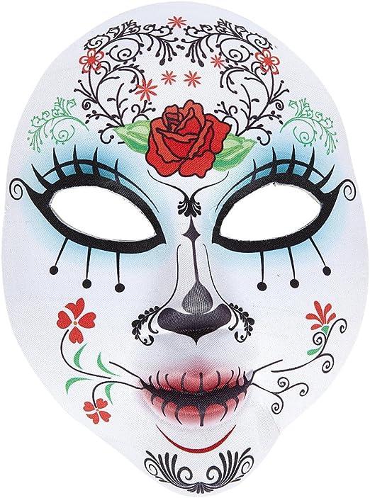 Amakando Sugar Skull Antifaz Halloween Máscara Día de los Muertos ...