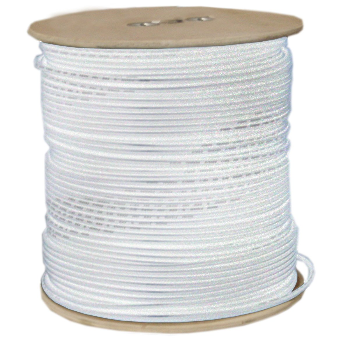 1pk 1000ft Spool White ACCL 18 AWG RG6 Coaxial Cable Solid Core