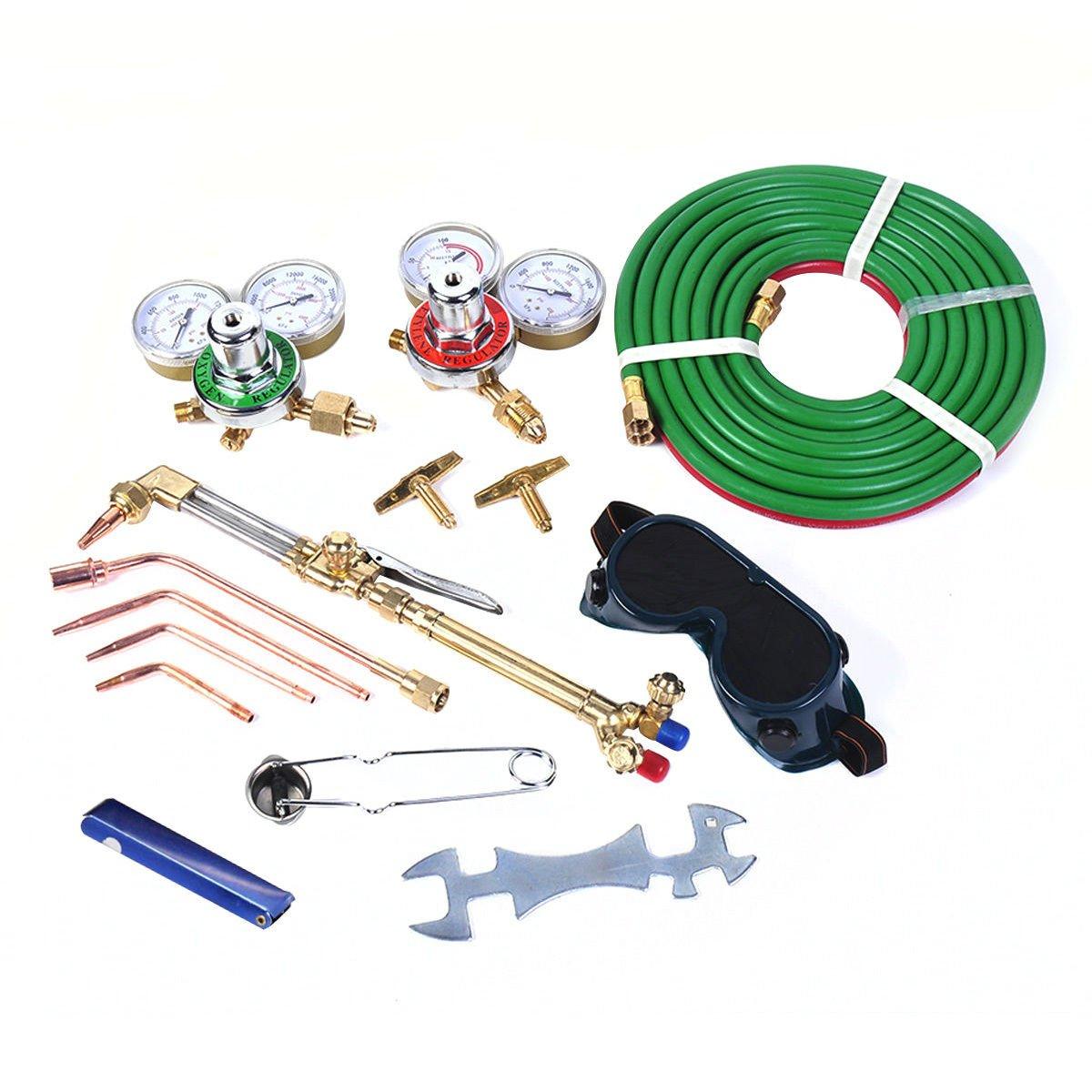 Gas Welding Cutting Kit Oxy Acetylene Oxygen Torch Brazing Fits VICTOR W//Hose