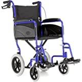 Dash Express Ultra Lightweight Folding Attendant Propelled Wheelchair with Tall Handles