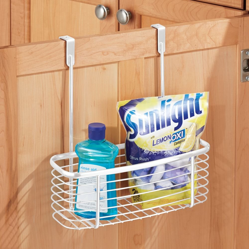 InterDesign Axis Over the Cabinet Kitchen Storage Holder for Plastic and Garbage Bags - White 56572