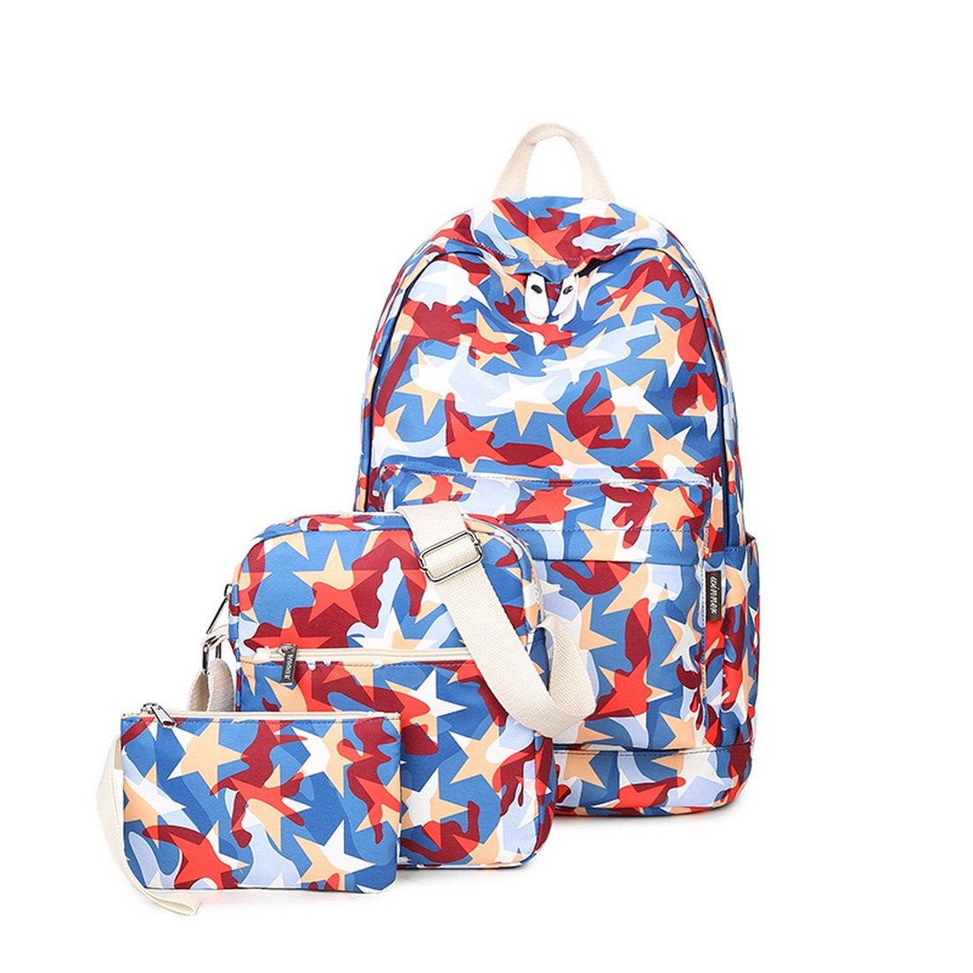Joymoze Zaino moda scolastico,stampato,impermeabile. Zaino per computer portatile per ragazza Set 3 pezzi-borsa a tracolla per donna casual Floreale 825 JYBP825Floral