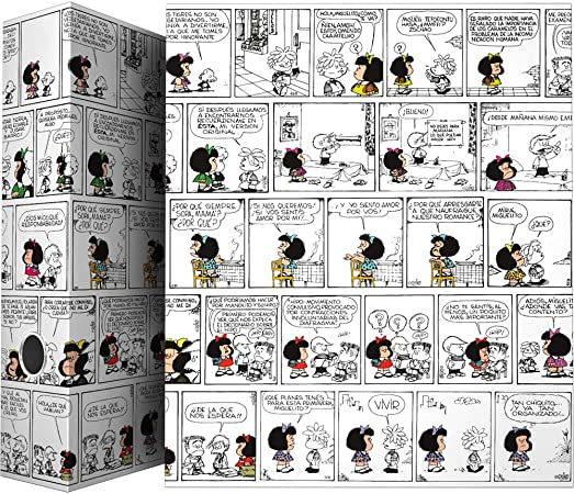 Grafoplás 88171971. Carpeta de Anillas Mafalda Comic, A4, 4 Anillas Mixtas 40mm, Ollado en el Lomo: Amazon.es: Oficina y papelería