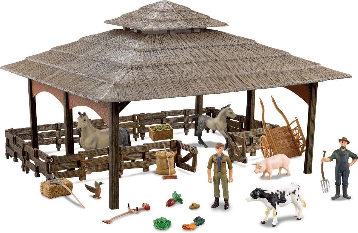 Farmee Large Farm Barn con Figuras y Accesorios de Animales ...