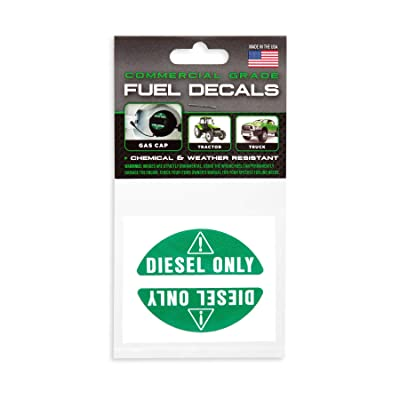 Fuel Decals - Extreme Quality - Ultra Durable - Weather Resistant (Diesel Only (Green)): Arts, Crafts & Sewing