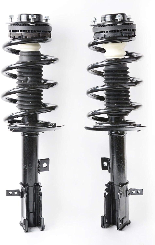 Front Pair Complete Struts Strut Coil Spring Assembly Shock Absorber fit for 2009-2017 Dodge Journey V6 Models Only 172509-172510