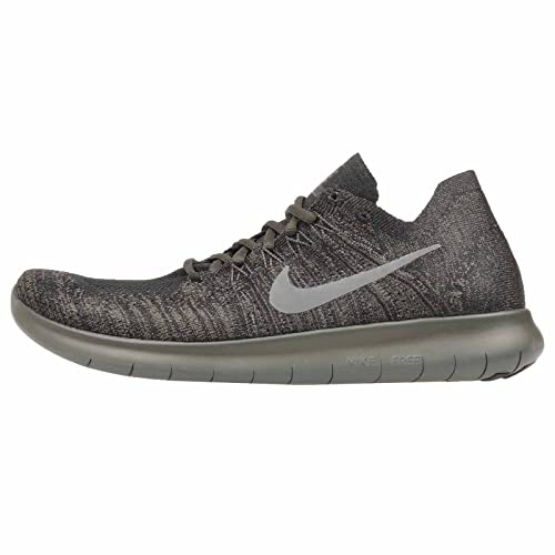 a3a7ed3460c9 Nike Mens Free RN Flyknit 2017 Running Shoes Black River Rock Anthracite  880843-012 Size 13  Buy Online at Low Prices in India - Amazon.in