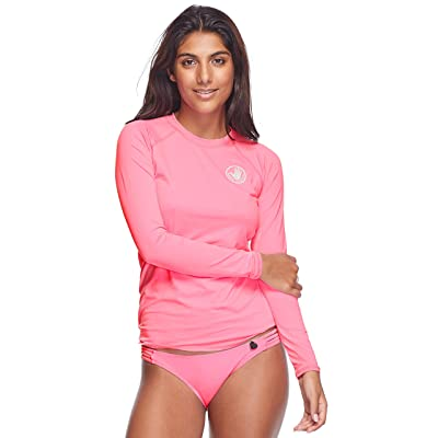 Body Glove Women's Smoothies Sleek Solid Long Sleeve Rashguard with UPF 50+: Clothing