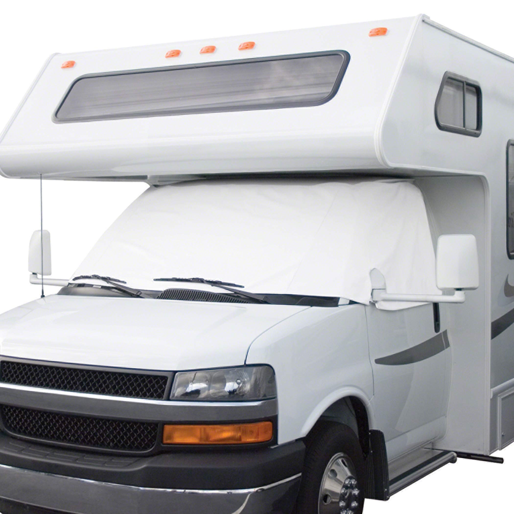 Classic Accessories 80-RV RV Windshield Cover Models: Model 6, Color: Snow White (Renewed) by Classic Accessories