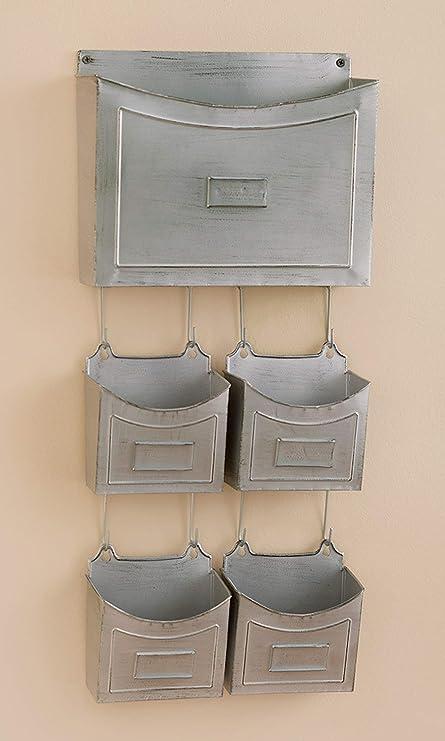 Amazon.com: 5 unidades. Organizador de pared de metal ...