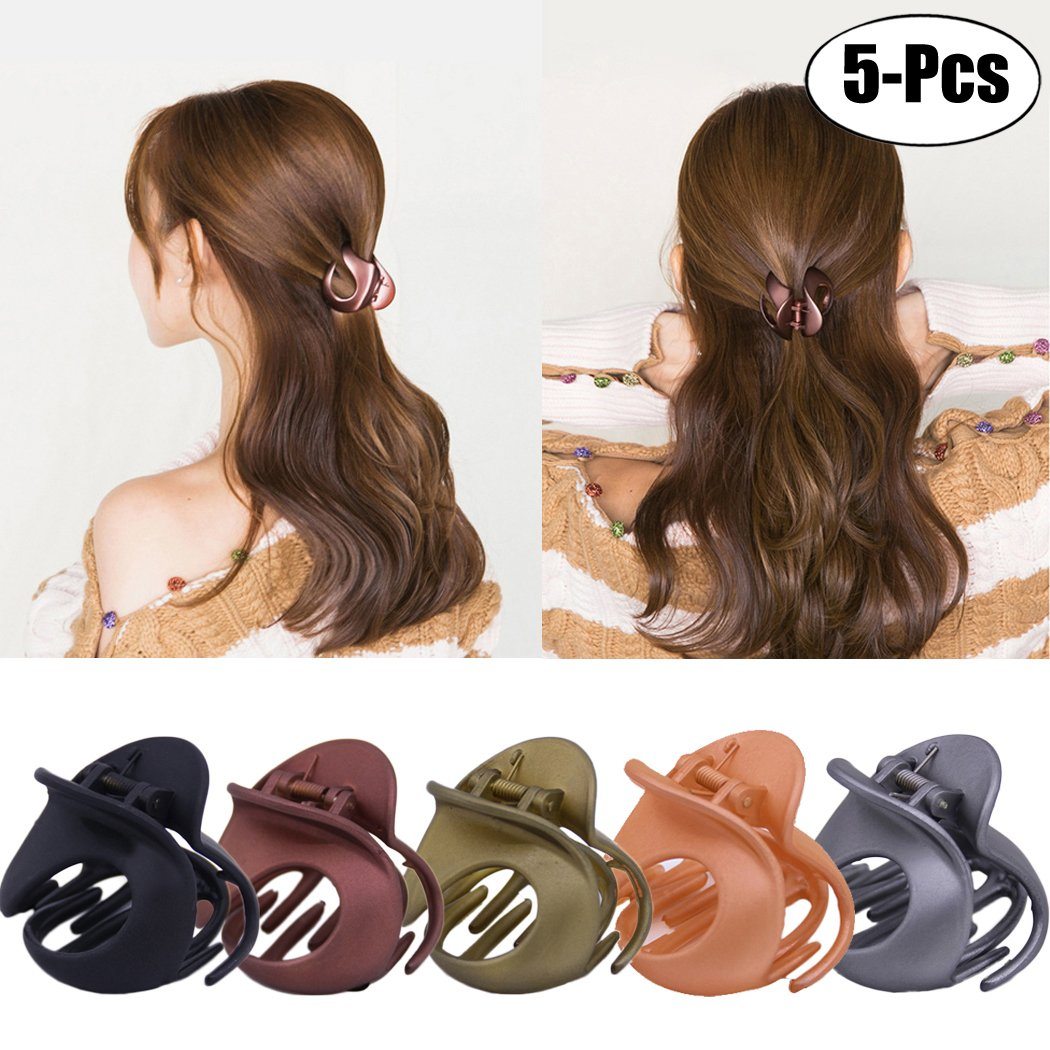 Fascigirl Jaw Clips, 5Pcs Hair Clamps Vintage Simple Irregular Non Slip Claw Clips Hair Accessories for Women