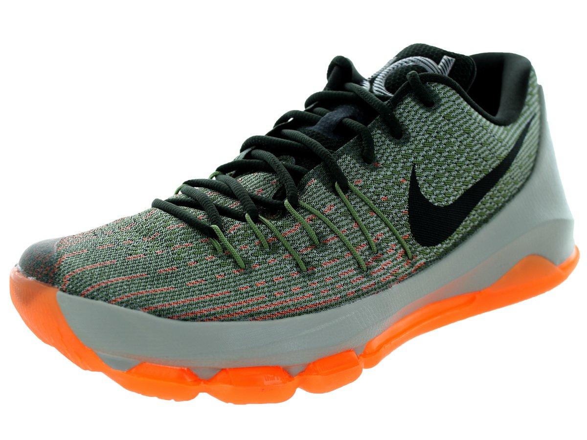 Nike Herren KD 8 Basketballschuhe, Talla  44 EU|Grau / Schwarz / Orange (Lnr Grau / Sq-allgtr-brght Ctrs)