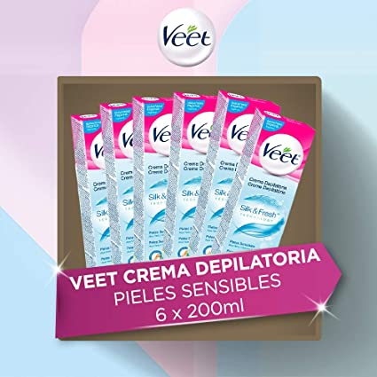 Veet Crema Depilatoria Para Piel Sensible Pack 6 x 200ml