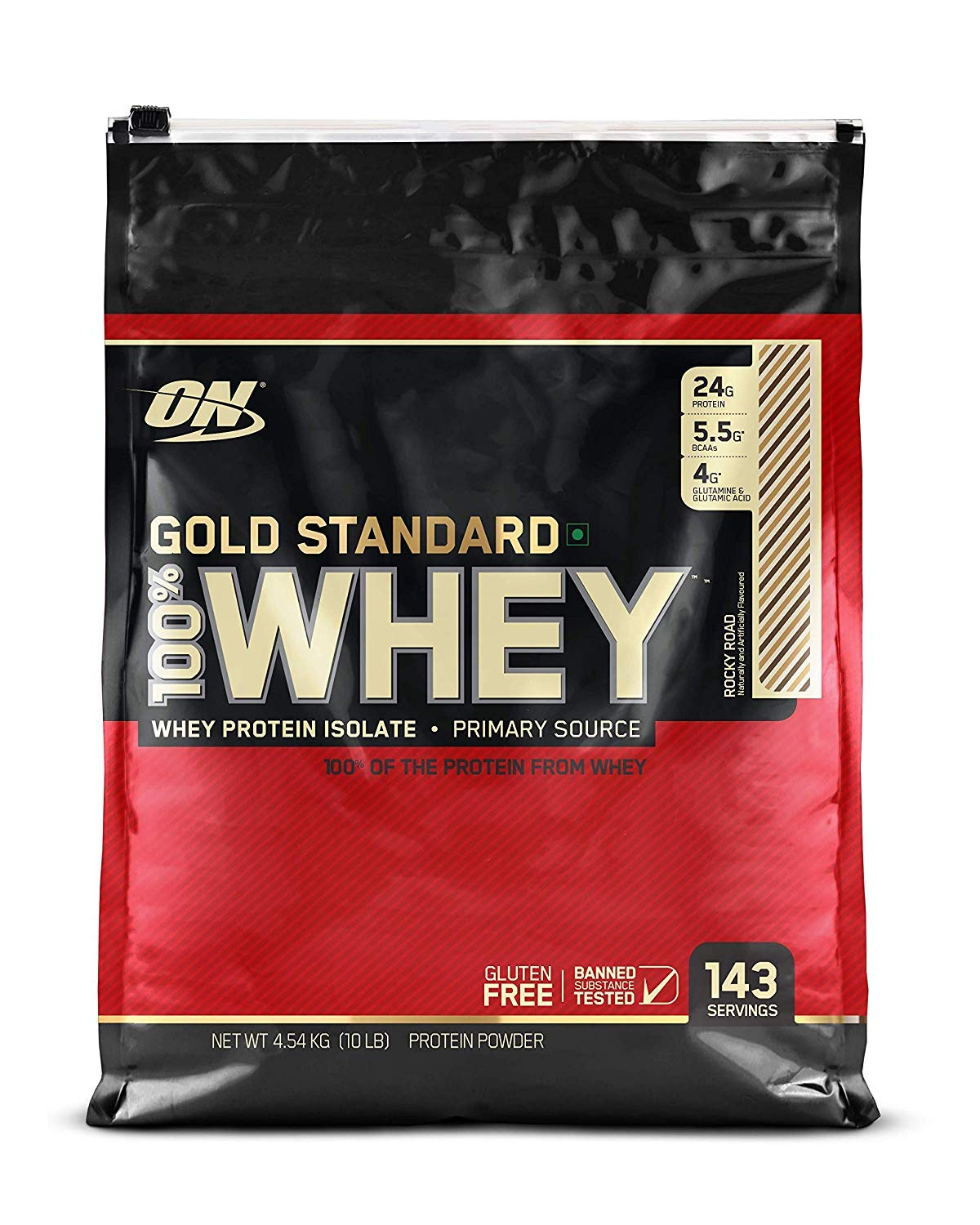 Optimum Nutrition Gold Standard 100 Whey Protein Powder, Rocky Road, 10 Pound