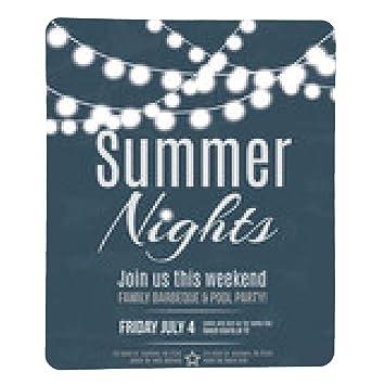 Elegant Summer Night Party Invitation Flyer Template Amazonde