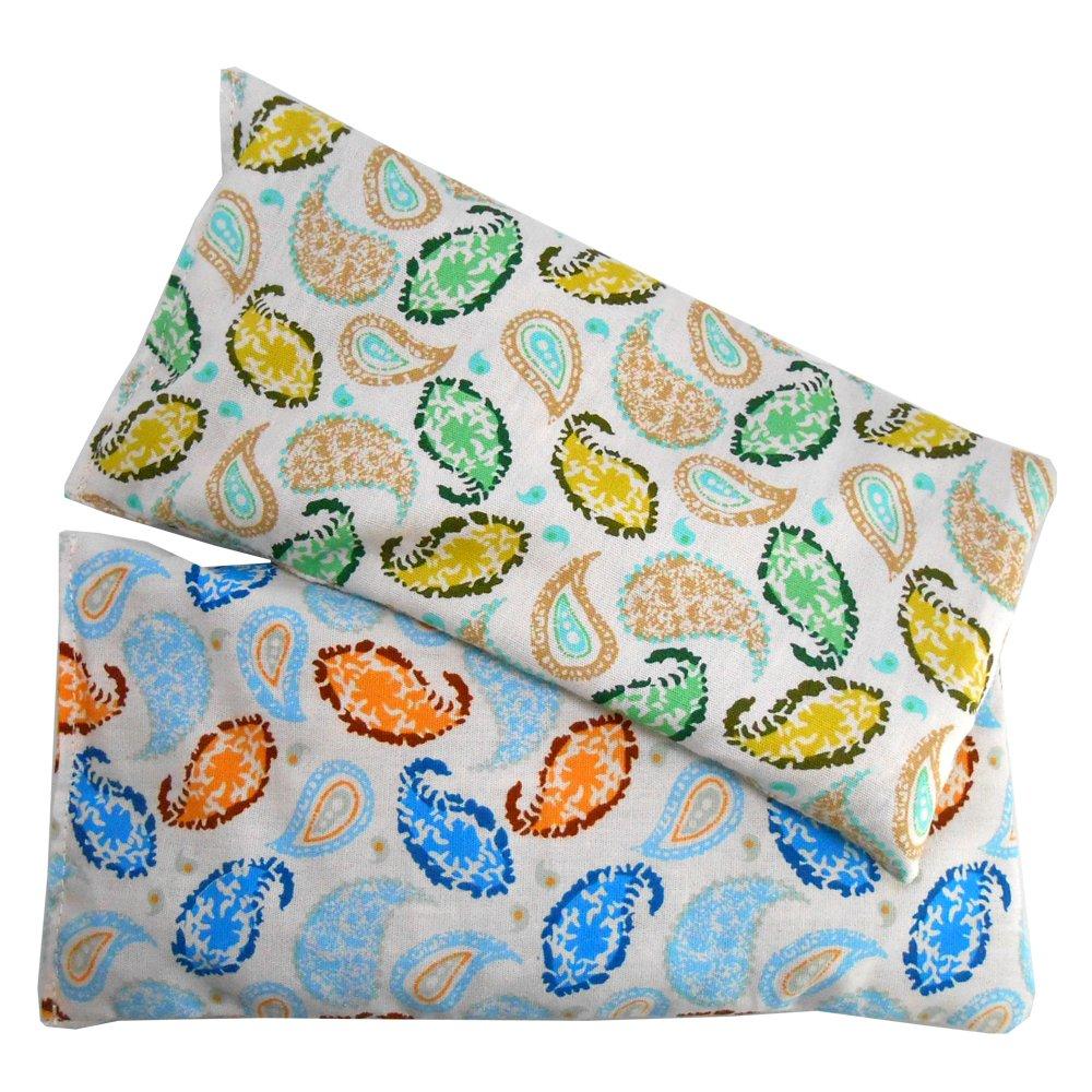Cuscino per occhi 'Pack 2 - House' | Semi di lavanda e riso | Yoga, Meditazione, rilassamento, riposo oculare...