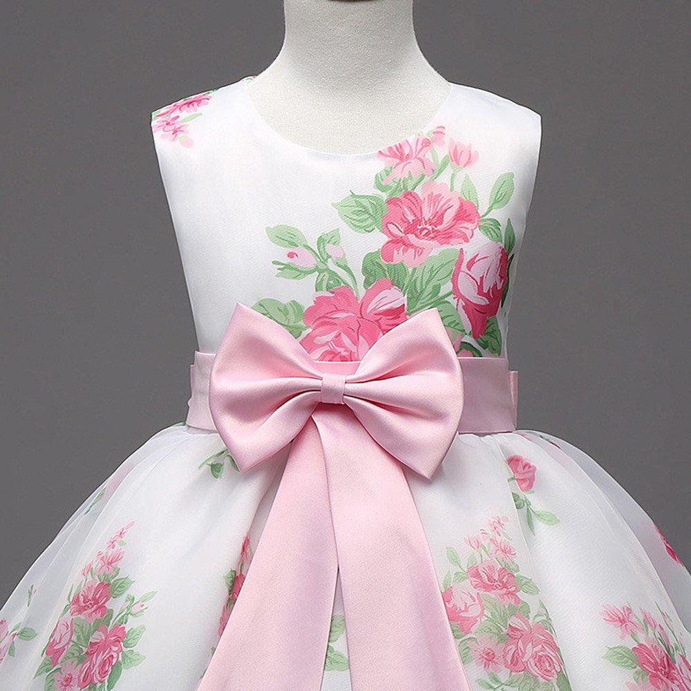 Vestido de niñas, ❤ Manadlian Princesa Vestido de niña de flores ...