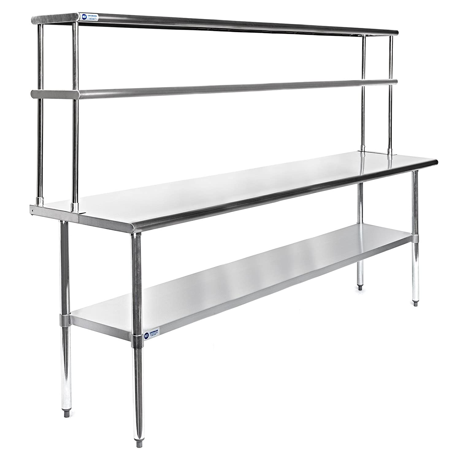 Gridmann Nsf Stainless Steel Commercial Kitchen Prep Work Table