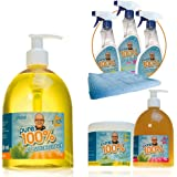 Pure100% Spezial Mega Package inkl. Fettreiniger Kalklöser Allzweckreiniger Das Original von Mediashop