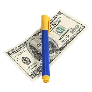 QIND Fake Forged Note - Detector de Dinero en Efectivo, bolígrafos Falsos de Billete de Billete de Billetes: Amazon.es: Hogar