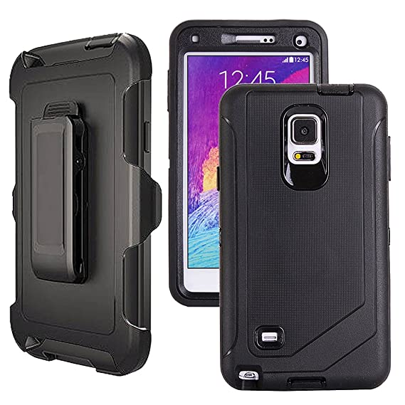 big sale c89dc 2c3b3 Galaxy Note 4 Case Heavy Duty,Harsel Defender Series Shockproof Dustproof  Dropproof 3 Layer Rugged Protective Shell Case w/Built-in Screen Protector  & ...