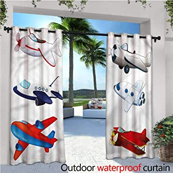 Warmfamily Boys Room Exterior/Outside Curtains Cartoon Style Animation For  Patio Light Block Heat Out