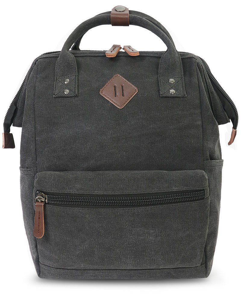 Oflamn Doctor Style Canvas Multipurpose Casual Daypack Laptop Backpack Travel Bag for Men and Women (Black) by Oflamn