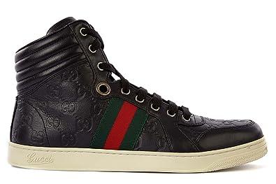 Gucci Herrenschuhe Herren Leder Schuhe High Sneakers Neu - Zapatillas de Piel para Hombre Negro Negro, Color Negro, Talla 45 EU: Amazon.es: Zapatos y ...