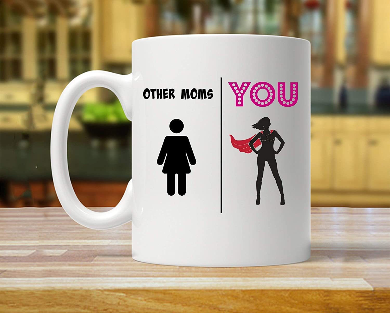 Amazon Com Mom Gift Gift For Mom Mom Mug Super Mom Gift Super Mom Mug Mom Gifts Funny Present Mom Gift Ideas Mom Coffee Mugs Mom Cape Thanksgiving Day Gifts Christmas Gift 11 Oz Kitchen